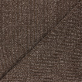 Lurex Ribbed knit fabric - cocoa Liv x 10cm