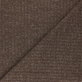Tissu Maille côtelé Lurex Liv - cacao x 10cm
