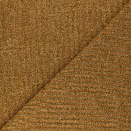 Lurex Ribbed knit fabric - mustard yellow Liv x 10cm
