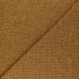 Tissu Maille côtelé Lurex Liv - jaune moutarde x 10cm