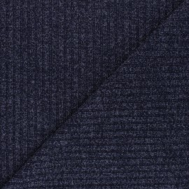 Lurex Ribbed knit fabric - blue Liv x 10cm