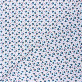 Tissu coton cretonne Divy - rose x 10cm