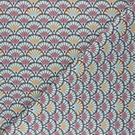Cretonne cotton Fabric - eucalyptus Yona x 10cm