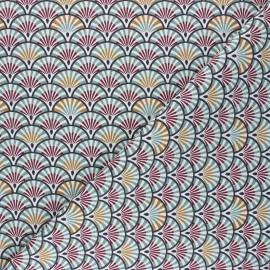 Tissu coton cretonne Yona - eucalyptus x 10cm
