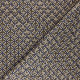 Cretonne cotton Fabric - camel Khol x 10cm