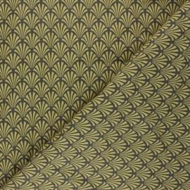 Cretonne cotton Fabric - mustard yellow Khol x 10cm