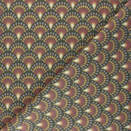 Cretonne cotton Fabric - khaki green Yona x 10cm