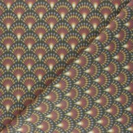 Tissu coton cretonne Ginza - vert kaki x 10cm
