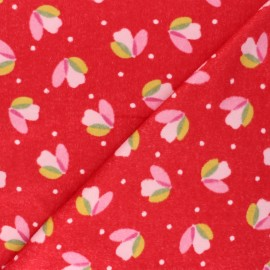 Nicky velour fabric - red Sabine x 10cm