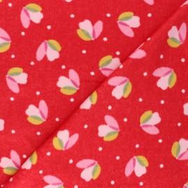Nicky velour fabric - red Sabine x 10cm