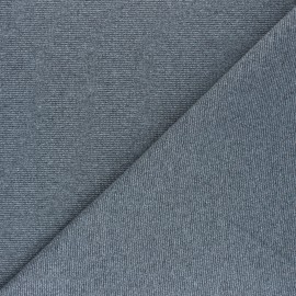 Lurex French Terry fabric - grey Silver Diva x 10cm
