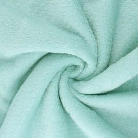 Tissu Doudou Point d'argent - vert mint x 10cm