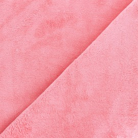 Micro Bamboo Towel fabric - pink capucine x 10cm