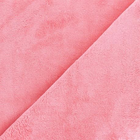 Tissu Micro-éponge Bambou - capucine x 10cm
