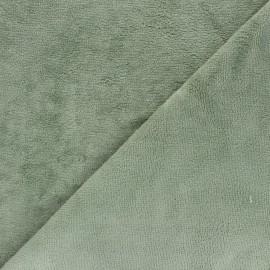 Tissu Micro-éponge Bambou - romarin x 10cm