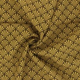 Tissu viscose Khol - jaune moutarde x 10cm