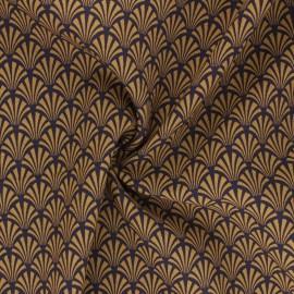 Tissu viscose Khol - camel x 10cm