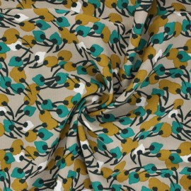 Domotex Viscose Fabric - sand Kisnek x 10cm
