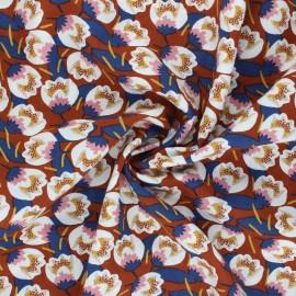Tissu viscose Dimeo - rouille x 10cm