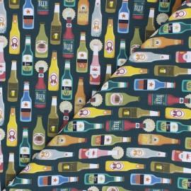 Tissu coton cretonne Beer collection - vert bouteille x 10cm