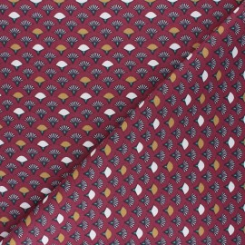 Tissu coton cretonne Muji - lie de vin x 10cm