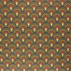 Tissu coton cretonne enduit Ginza - kaki x 10cm