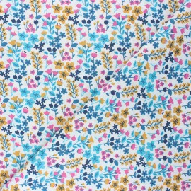 Cretonne cotton Fabric - fuchsia pink Milly x 10cm