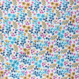 Tissu coton cretonne Milly - rose fuchsia x 10cm