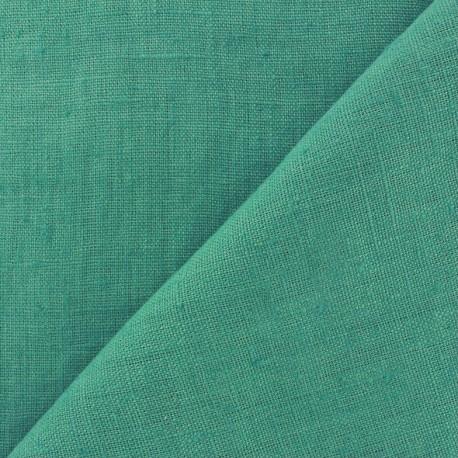 Thevenon washed Linen Fabric - seagreen x 10cm