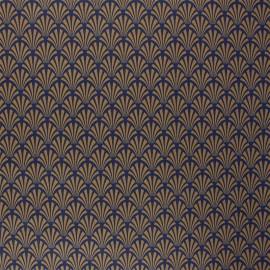 Tissu coton cretonne enduit Khol - camel x 10cm
