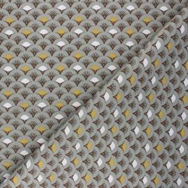 Cretonne cotton Fabric - grey green Muji x 10cm