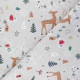 Tissu coton cretonne Carybooh - lin x 10cm