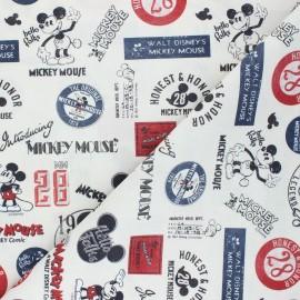 Tissu coton cretonne Vintage Mickey - grège x 10cm