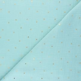 Tissu double gaze de coton Declan - menthe claire x 10cm