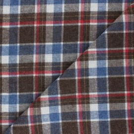 Checked polycotton fabric - off-white Oldham x 10cm