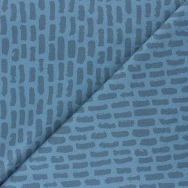 Stenzo French terry cotton fabric - blue Phill x 10cm