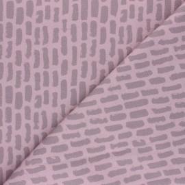 Tissu coton sweat léger Stenzo Phill - rose poudré x 10cm