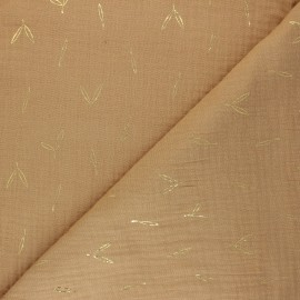 Double cotton gauze fabric - camel Stolpa x 10cm