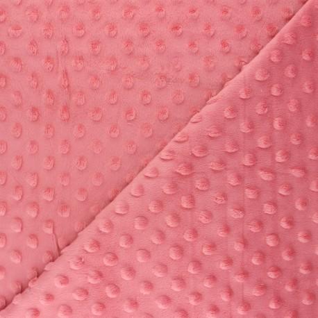 Tissu Velours minkee doux Bubble - goyave x 10cm