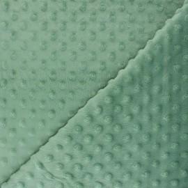 Dotted minkee velvet fabric - rosemary green Bubble x 10cm