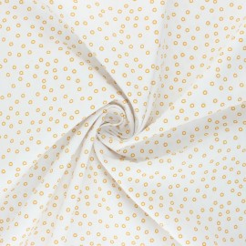 Tissu popeline de coton Stenzo Béonie - blanc cassé x 10cm