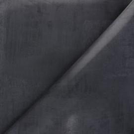 Tissu toile cirée Bulgomme Kent - gris foncé x 10cm