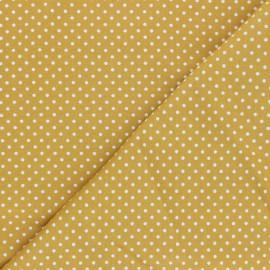 Poplin Cotton fabric - yellow Little pois x 10cm