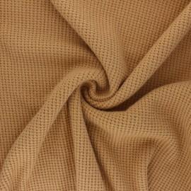 Tissu maille polyviscose Morélie - jaune moutarde x 10cm