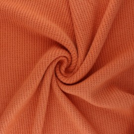 Knitted polyviscose fabric - orange Morélie x 10cm