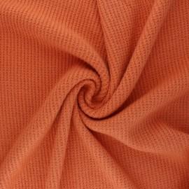 Tissu maille polyviscose Morélie - orange x 10cm