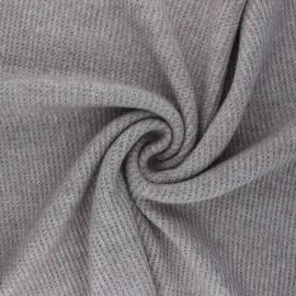 Tissu maille polyviscose Morélie - grège x 10cm
