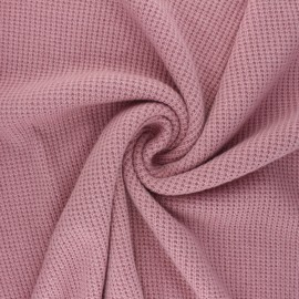 Knitted polyviscose fabric - old pink Morélie x 10cm