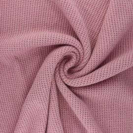 Tissu maille polyviscose Morélie - vieux rose x 10cm