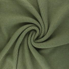 Knitted polyviscose fabric - khaki green Morélie x 10cm
